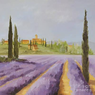 Lavender Fields I Art Print by Logan Gerlock