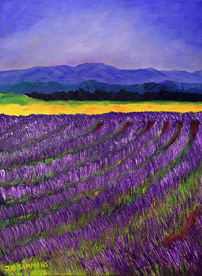 Lavender Fields Art Print by Janet Greer Sammons