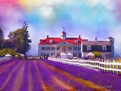 Digital Art - Lavender Fields by Kari Nanstad