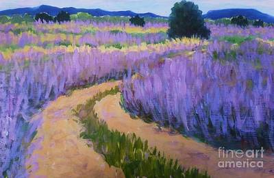 Painting - Lavender Fields by Suzanne McKay