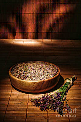 Restful Photograph - Lavender Flowers And Seeds by Olivier Le Queinec