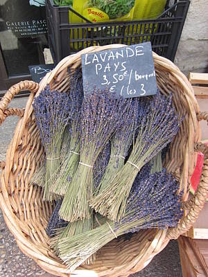 Lavender For Sale Print by Pema Hou