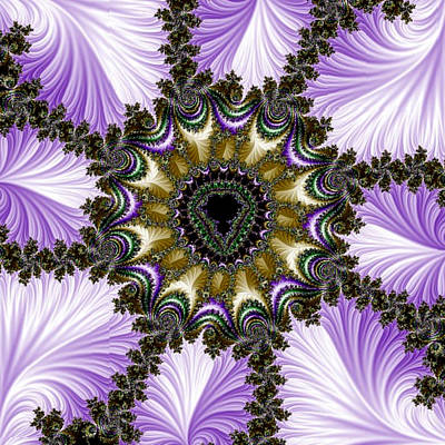 Digital Art - Lavender Fractal by Karen Buford