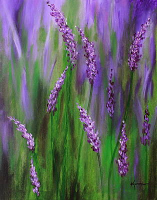Nature Medicine Painting - Lavender Garden by Kume Bryant