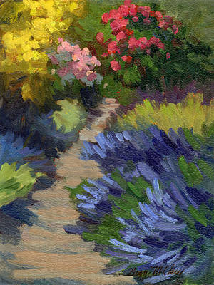 Painting - Lavender Garden On Vashon Island by Diane McClary