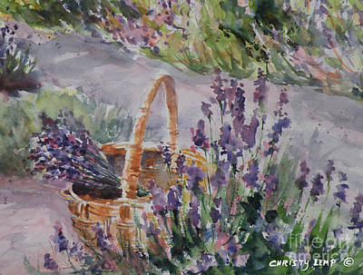 Painting - Lavender Gathering by Christy Lemp