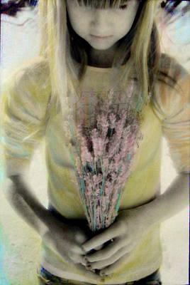 Hand-colored Photograph - Lavender Girl by Gloria De los Santos