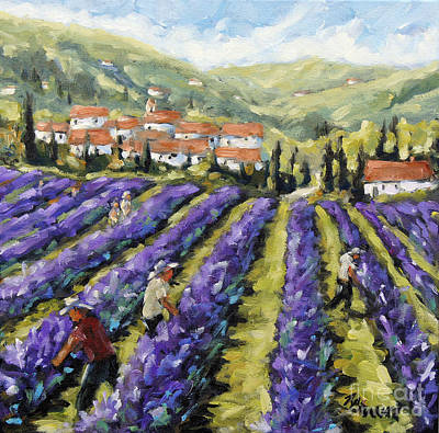 Quebecois House Painting - Lavender Harvest By Prankearts by Richard T Pranke