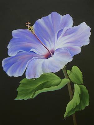 Painting - Lavender Hibiscus by Francine Henderson