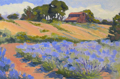 Modesto Painting - Lavender Hollow Farm by Rhett Regina Owings