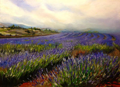 Painting - Lavender In Oil by Lori Ippolito