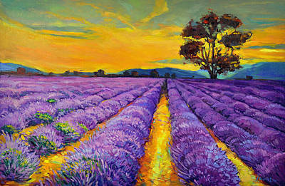 Acrylic Image Painting - Lavender by Ivailo Nikolov