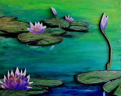 Pastel - Lavender Lillies by Daniel Dubinsky