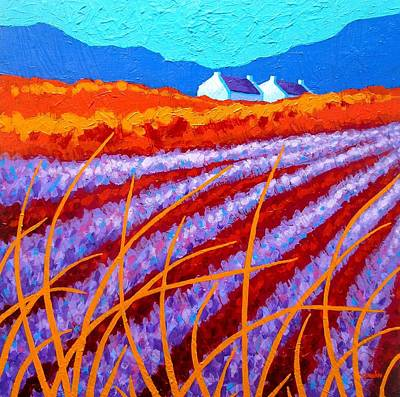 Contemporary Impressionism Painting - Lavender Meadow by John  Nolan