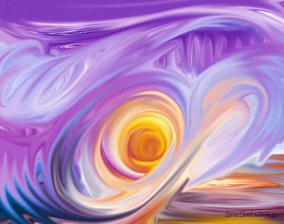 Lavender Mix Art Print by Lena Wilhite