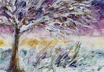 Lavender Morning Original by Mary Wolf