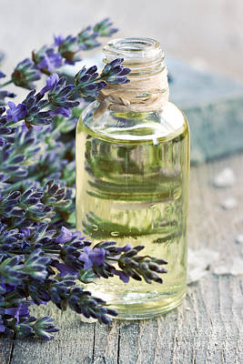 Lavender Oil Art Print by Mythja  Photography
