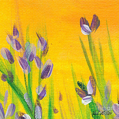 Painting - Lavender - Hanging Position 1 by Val Miller