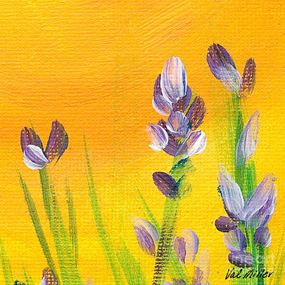 Painting - Lavender - Hanging Position 3 by Val Miller