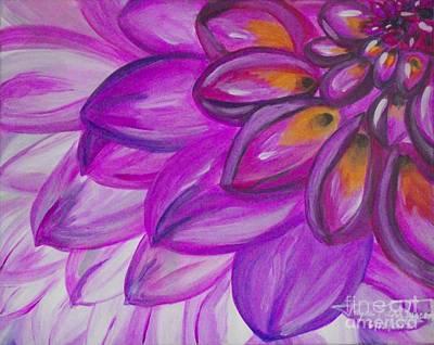 Painting - Lavender Petals by Jayne Kerr