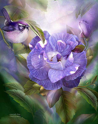 Mixed Media - Lavender Rose by Carol Cavalaris