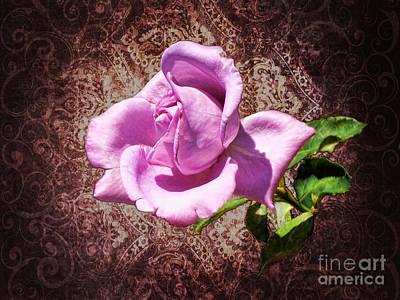 Lavender Rose Art Print by Mariola Bitner