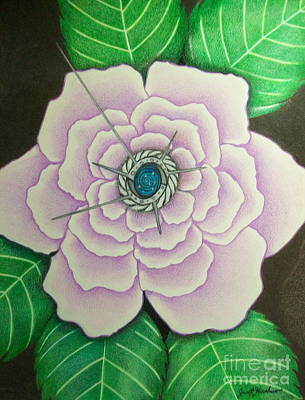 Drawing - Lavender Rose Secrets by Janet Hinshaw