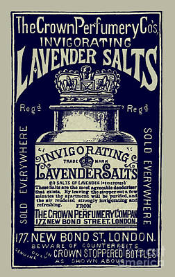 Photograph - Lavender Salts Ad 1893 by Phil Cardamone