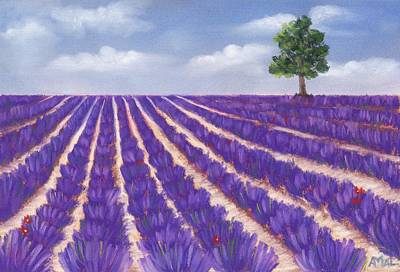 Painting - Lavender Season by Anastasiya Malakhova
