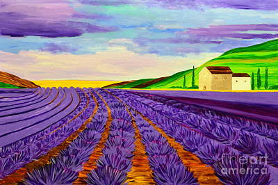 Painting - Lavender Summer by Mariana Stauffer