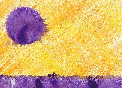 Lavender Sun Art Print