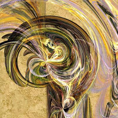 Yellow Digital Art - Lavender Swirls by Betsy Jones