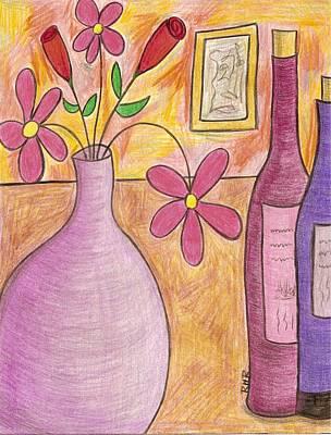 Lavender Vase Art Print by Ray Ratzlaff