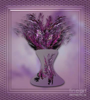 Apophysis Photograph - Lavender Vase by Shirley Mangini
