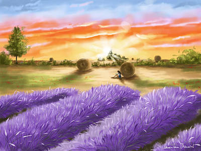Lavender Digital Art - Lavender by Veronica Minozzi