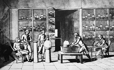 1770s Photograph - Lavoisier Respiration Experiment, 1770s by Spl