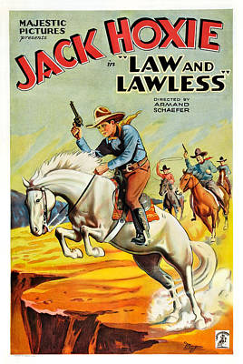 Law And The Lawless, Jack Hoxie Art Print by Everett