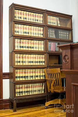 Photograph - Law Books In Courtroom by Imagery by Charly