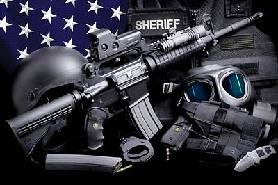 Law Enforcement Tactical Sheriff Art Print by Gary Yost