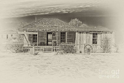 Judge Roy Bean Photograph - Law West Of Pecos by Erika Weber