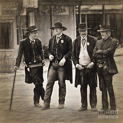 Lawmen And Armed Citizens  ... Art Print