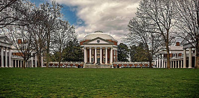 Lawn And Rotunda At University Of Virginia Art Print