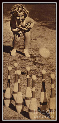 Artful And Whimsical Digital Art - Lawn Bowling With Shirley Temple  by Pierpont Bay Archives