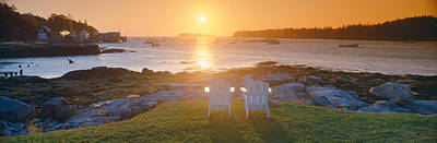Lawn Chairs At Sunrise At Lobster Art Print