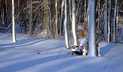 Photograph - Lawn Chairs In Winter by Jim Vance