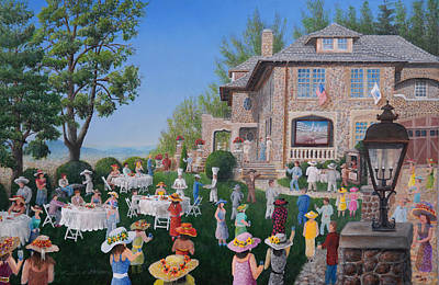 Kentucky Derby Painting - Lawn Party by Kenneth Stockton