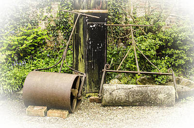 Rolled Yard Photograph - Lawn Rollers Vignette by Linsey Williams