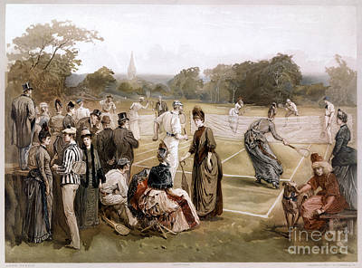 Tennis Racket Drawing - Lawn Tennis 1887 by Granger