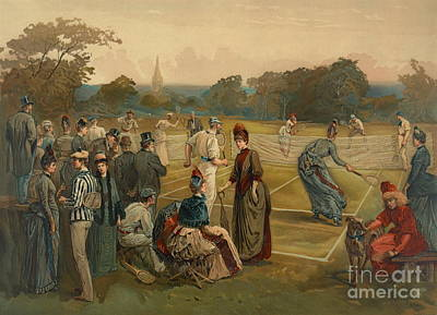 Lawn Tennis 1887 Art Print by Padre Art