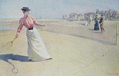 Net Painting - Lawn Tennis On The Normandy Coast  by Albert Lynch